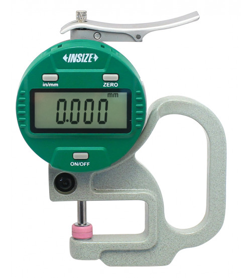 Digital thickness gauge with ceramic spindle tip.
