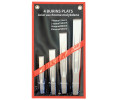 4 Pcs ribbed flat chisel set, in pouch