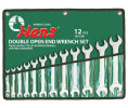 Double open-end wrench set, in pouch.