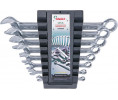 9 Pcs combination wrench set, in inch.plastic case