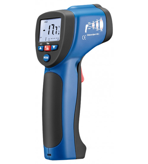 Professional infrared thermometer with type-K input.