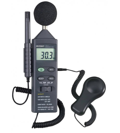 4 in 1 Environment meter - sound, light, humidity & temperature