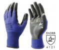 Nitrile palm-coated gloves.