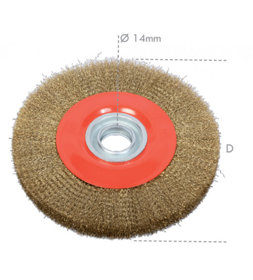 Crimped wire wheel brushes.