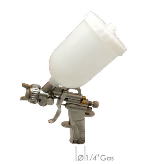 Professional spray gun with upper nylon tank